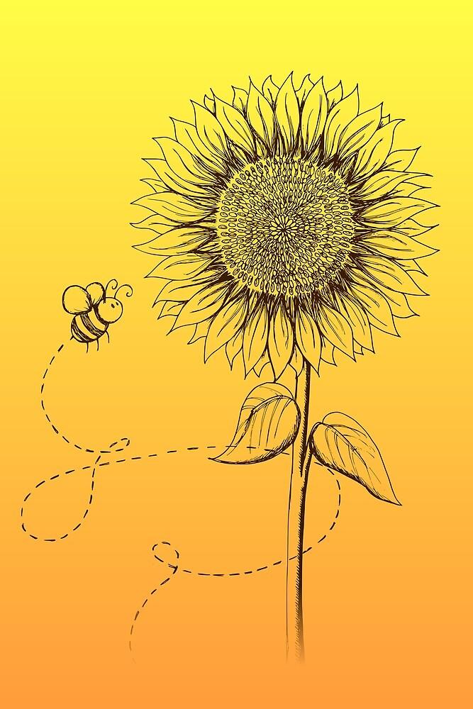 Sunny Bee - two lof bees by Josh Bush