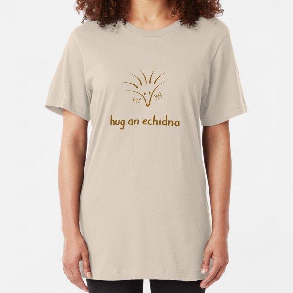 Hug An Echidna - two lof bees Slim Fit T-Shirt