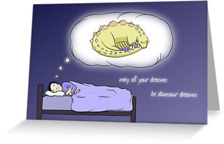 Dinosaur Dreams - two lof bees by Josh Bush