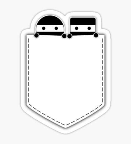 Pocket Ninjas - two lof bees Sticker