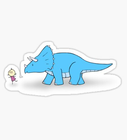 Hello Triceratops Sticker