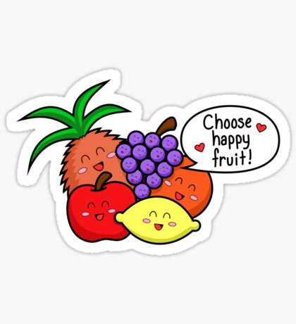 Happy Fruit - two lof bees Sticker