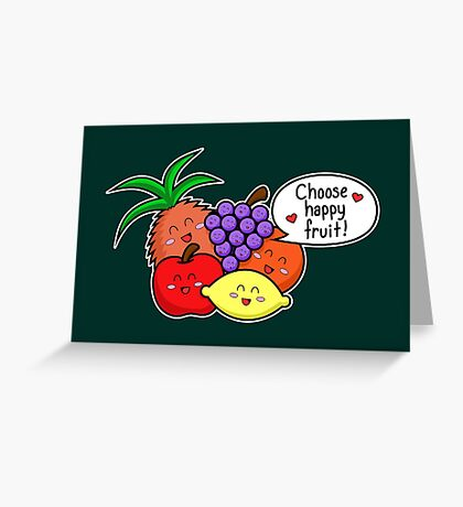 Happy Fruit - two lof bees Greeting Card