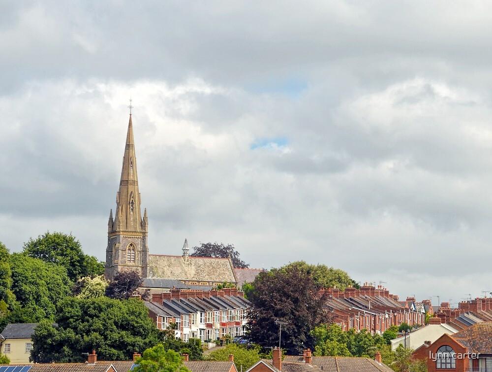 Spire Above Exeter, Devon.UK by lynn carter