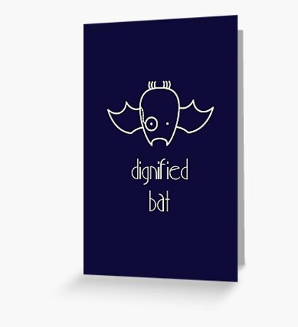 Dignified Bat - two lof bees Greeting Card
