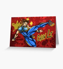 Chun Li Greeting Card