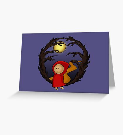 Girl In The Woods (blue) - two lof bees Greeting Card