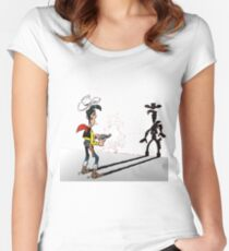 luckyluke Women's Fitted Scoop T-Shirt