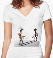 luckyluke Women's Fitted V-Neck T-Shirt