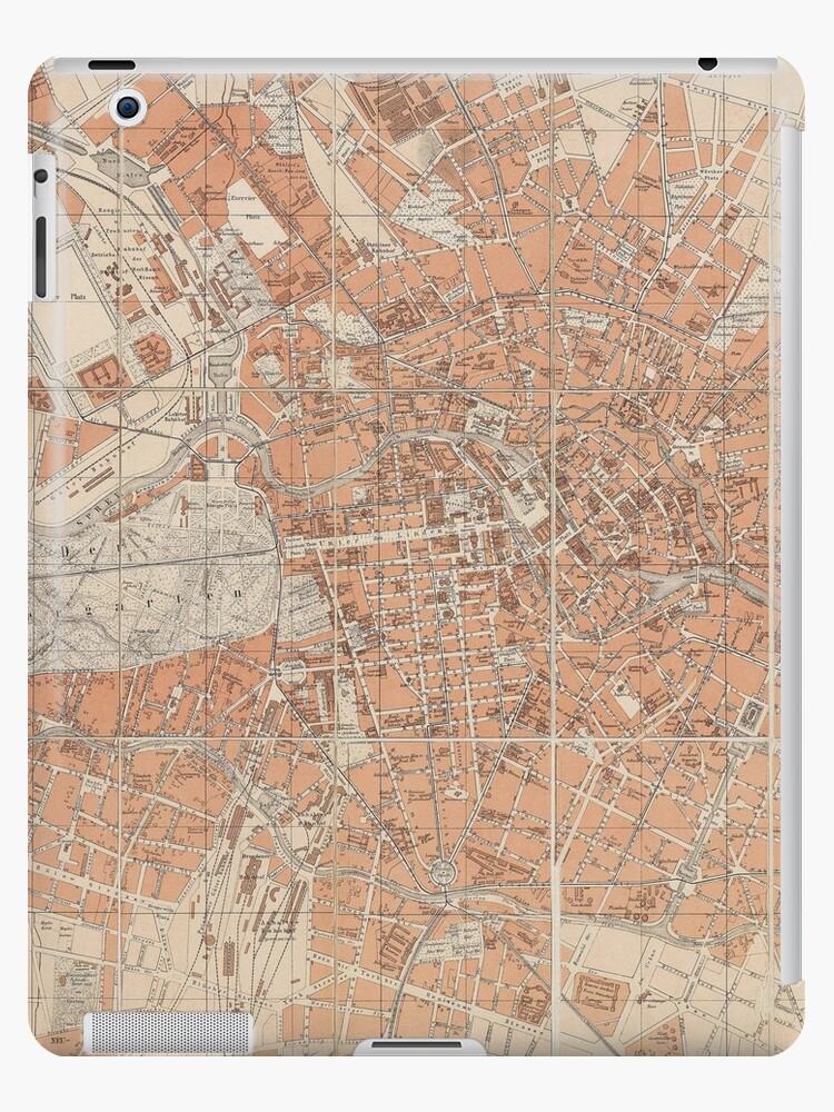 Vintage Karte von Berlin Deutschland (1877) von BravuraMedia