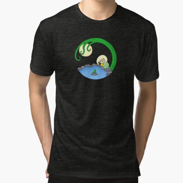 Girl At The Pond Tri-blend T-Shirt