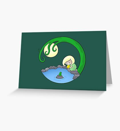 Girl At The Pond Greeting Card