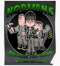 Norman's Paranormal pest control. Poster
