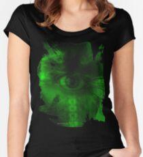 """Oculus Rising"" Dark Surrealism Women's Fitted Scoop T-Shirt"