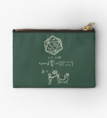 The science of 20 sided dice. Zipper Pouch