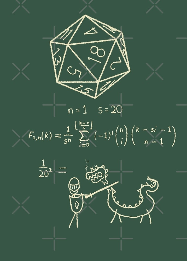 The science of 20 sided dice. by Dave Graff
