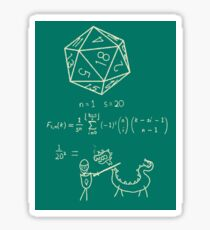 The science of 20 sided dice. Sticker