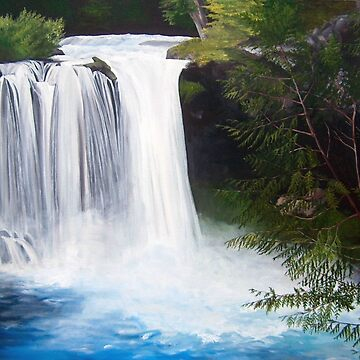 Waterfall Painting by amazingshop