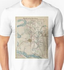 Vintage Map of Antietam Battlefield (1865)  Unisex T-Shirt