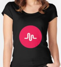 Musical.ly symbol music.ly musically Women's Fitted Scoop T-Shirt