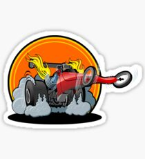 Cartoon dragster Sticker