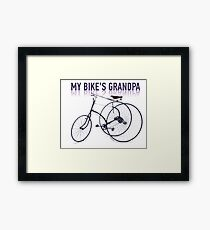 OLD BICYCLES 2 Framed Print