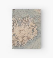 Vintage Map of Iceland (1767) Hardcover Journal