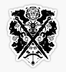 Roleplaying Rorschach Sticker