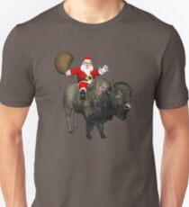 Santa Riding A Bison T-Shirt