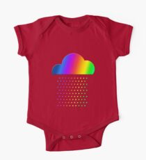 Colorful weather - we love rainbow rain! raindrop, clouds, color One Piece - Short Sleeve