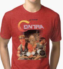 NES Contra Cover (Transparent)  Tri-blend T-Shirt
