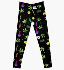 Super awesome Cute Stoner weed stuff Leggings