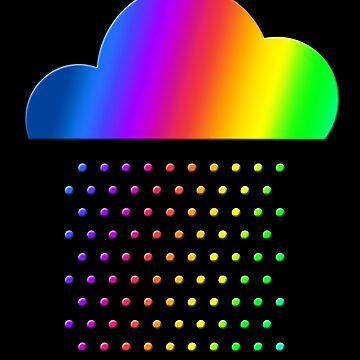 Clima colorido - ¡amamos la lluvia de arcoiris! gota de agua, nubes, color de boom-art