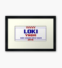 Make Asgard Great Again Framed Print