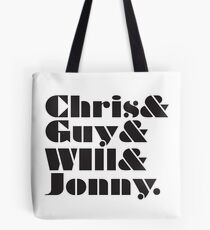Coldplay Band Member List Tote Bag