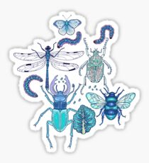 happy frozen blue bugs Sticker