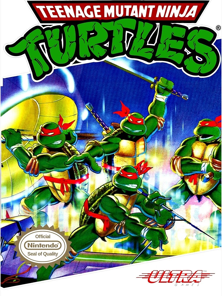 Teenage Mutant Ninja Turtles NES cover by Icepatrol