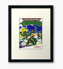 Lámina enmarcada Teenage Mutant Ninja Turtles NES cover