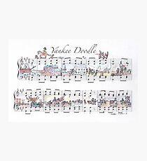 Yankee Doodle Sheet Music Art Photographic Print