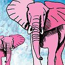 Pink Elephants by Juhan Rodrik