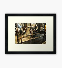 Antique Guns and Medieval Armour Framed Print
