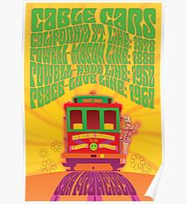 1960's Psychedelic San Francisco Cable Car Poster