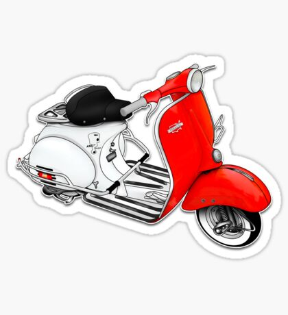 Scooter T-shirts Art: 1960 Allstate Scooter Design Sticker