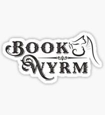 Book-Wyrm Clever Fantasy Bibliophile Sticker