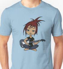 Camiseta ajustada Guitar Chick (versión 2)