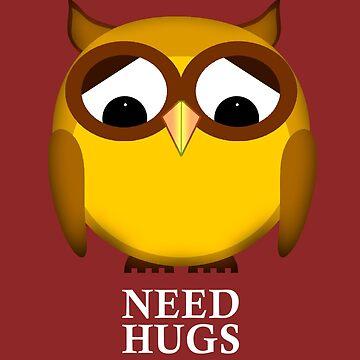 Lonely owl needs hugs by jaxxx