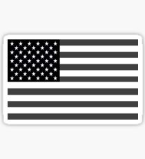 American Flag Black And White Sticker