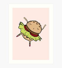 Burger Dance Art Print