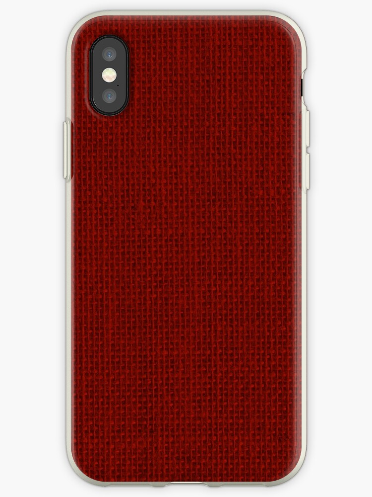 size 40 b0595 dcb27 'Natural Woven Dark Red Burlap Sack Cloth' iPhone Case by podartist