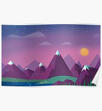 Cute Mountains Poster
